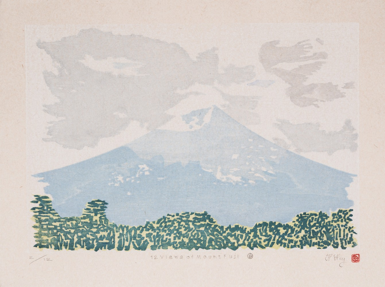 Full image of artwork 12 Views of Mount Fuji #6